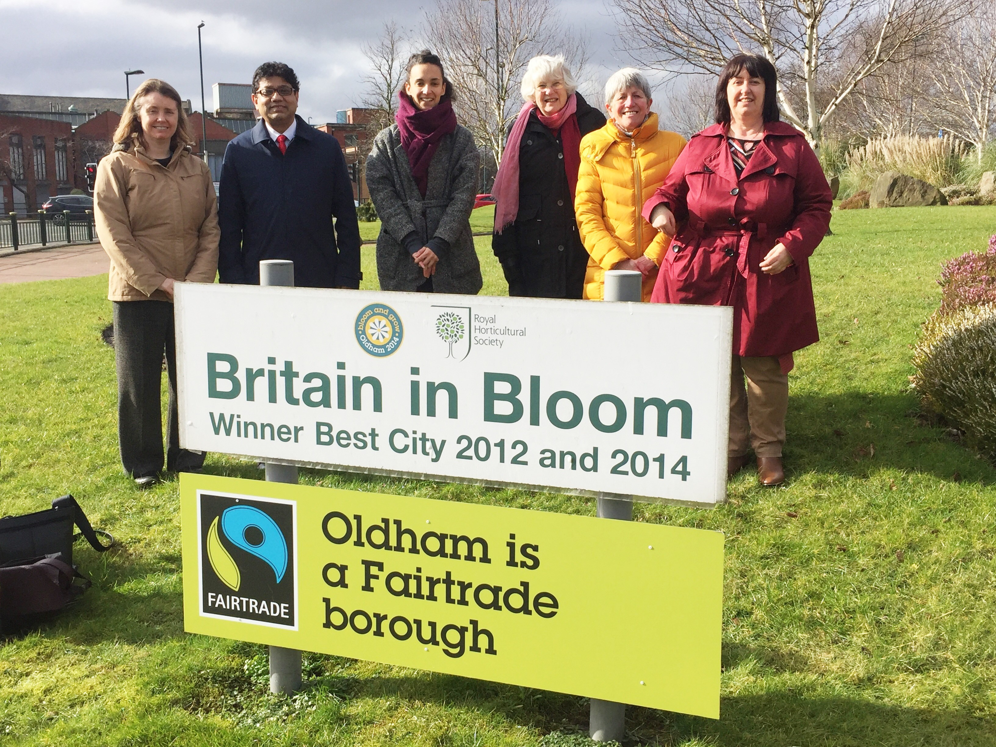 Oldham Fairtrade sign