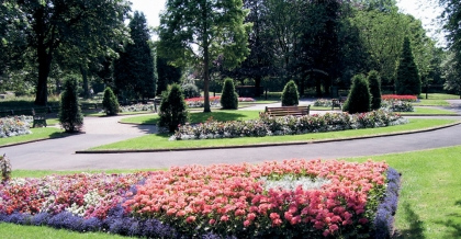 Flower beds at Chadderton Hall Park