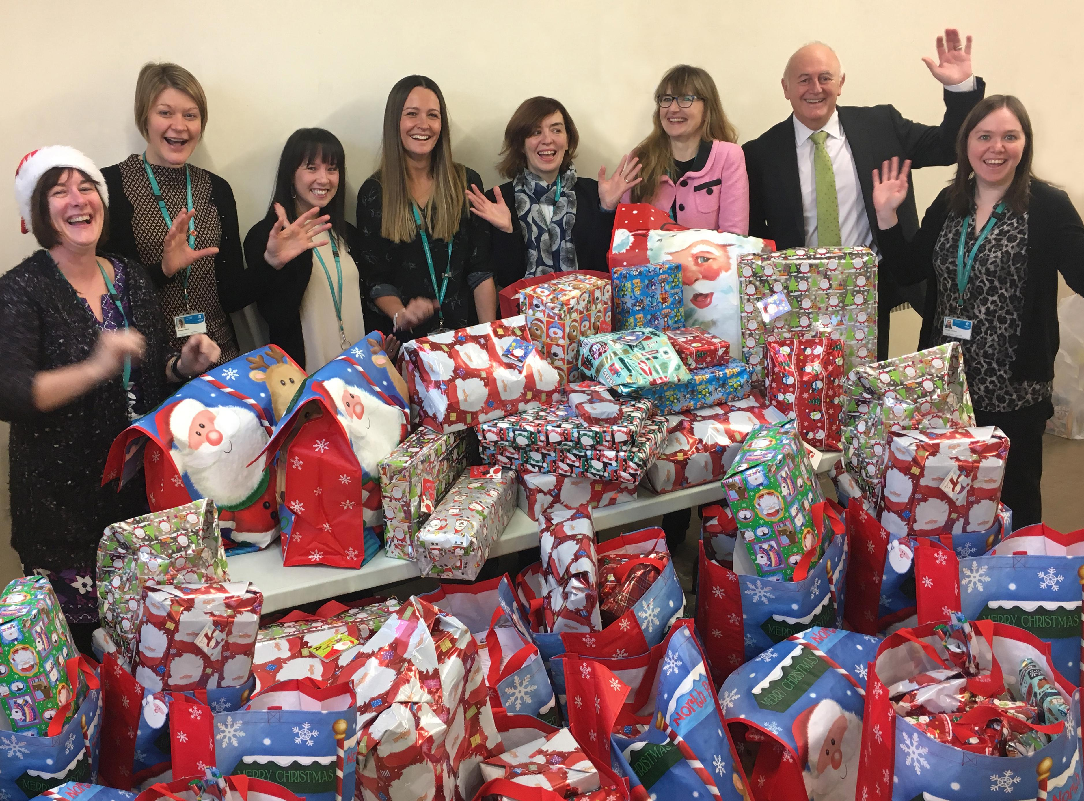 Oldham Council workers dug deep this Christmas, donating 320 presents for local young people who might otherwise receive nothing.