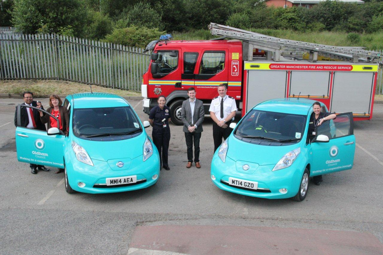 delivery of electric vehicles at Moorhey st Depot