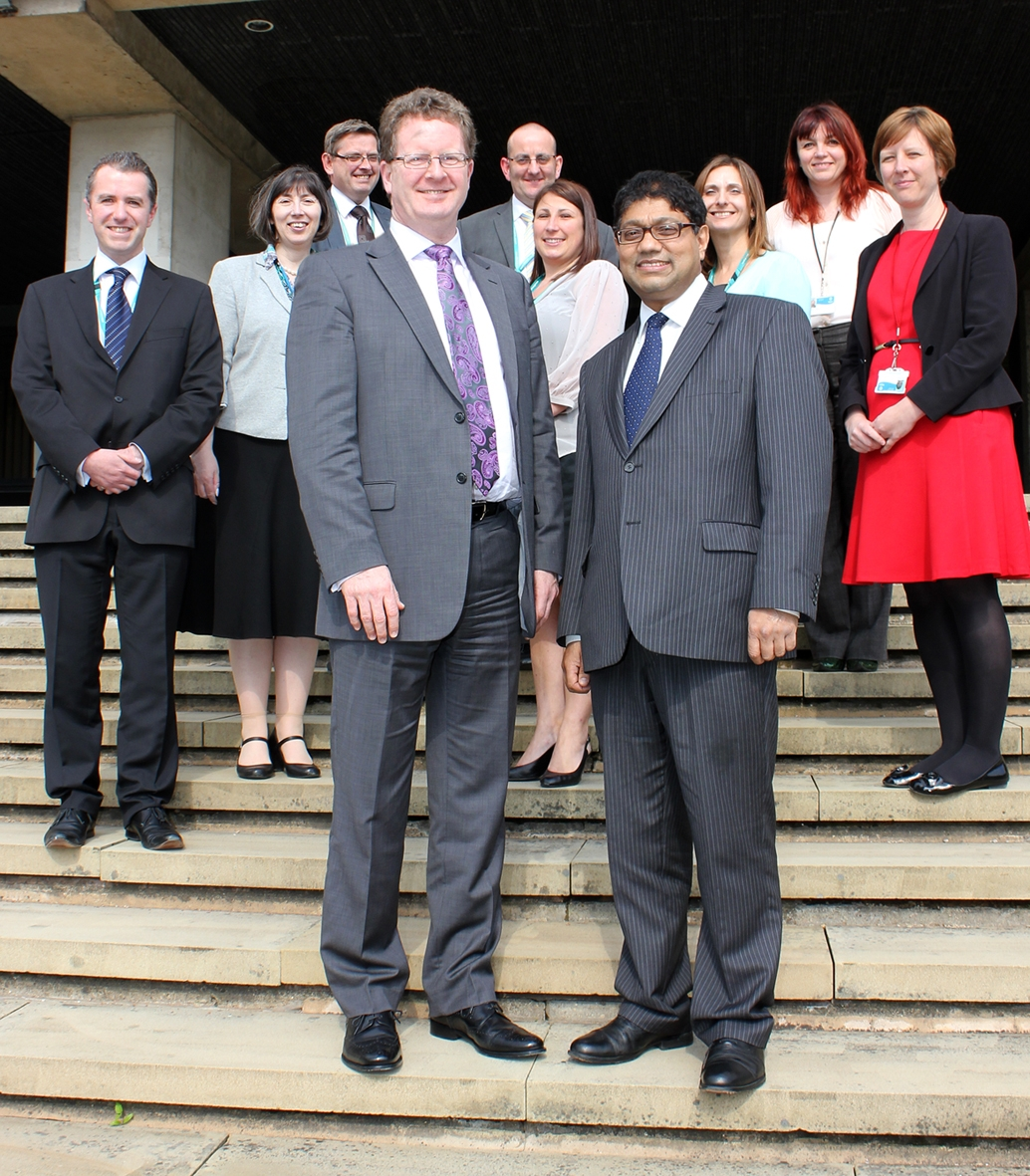 Steven Mair and Councillor Abdul Jabbar celebrate their success at speedy finance