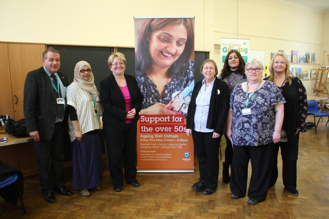 Jean visit Ageing Well Oldham