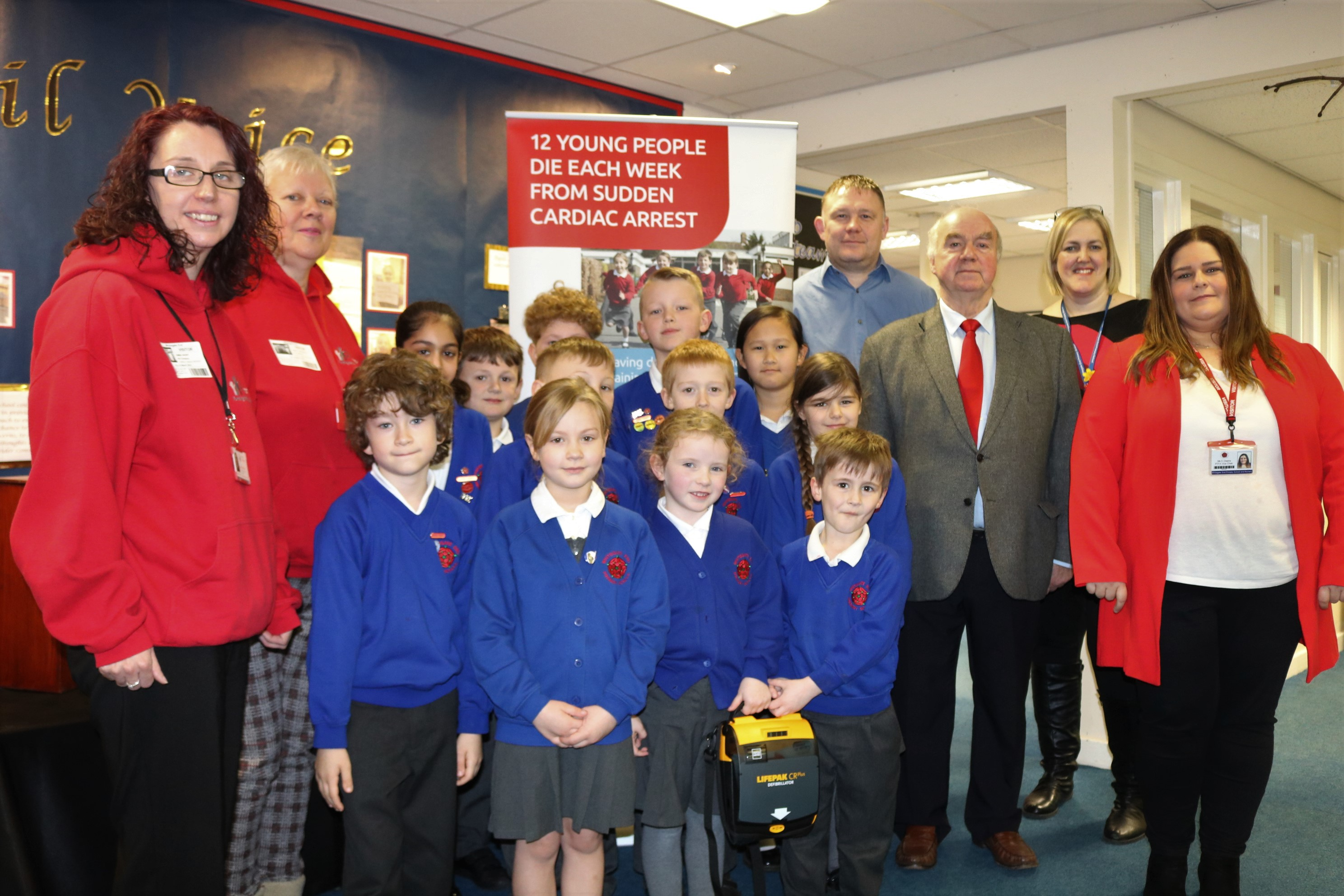 Primary schools in Chadderton have been kitted out with potentially life-saving defibrillators.