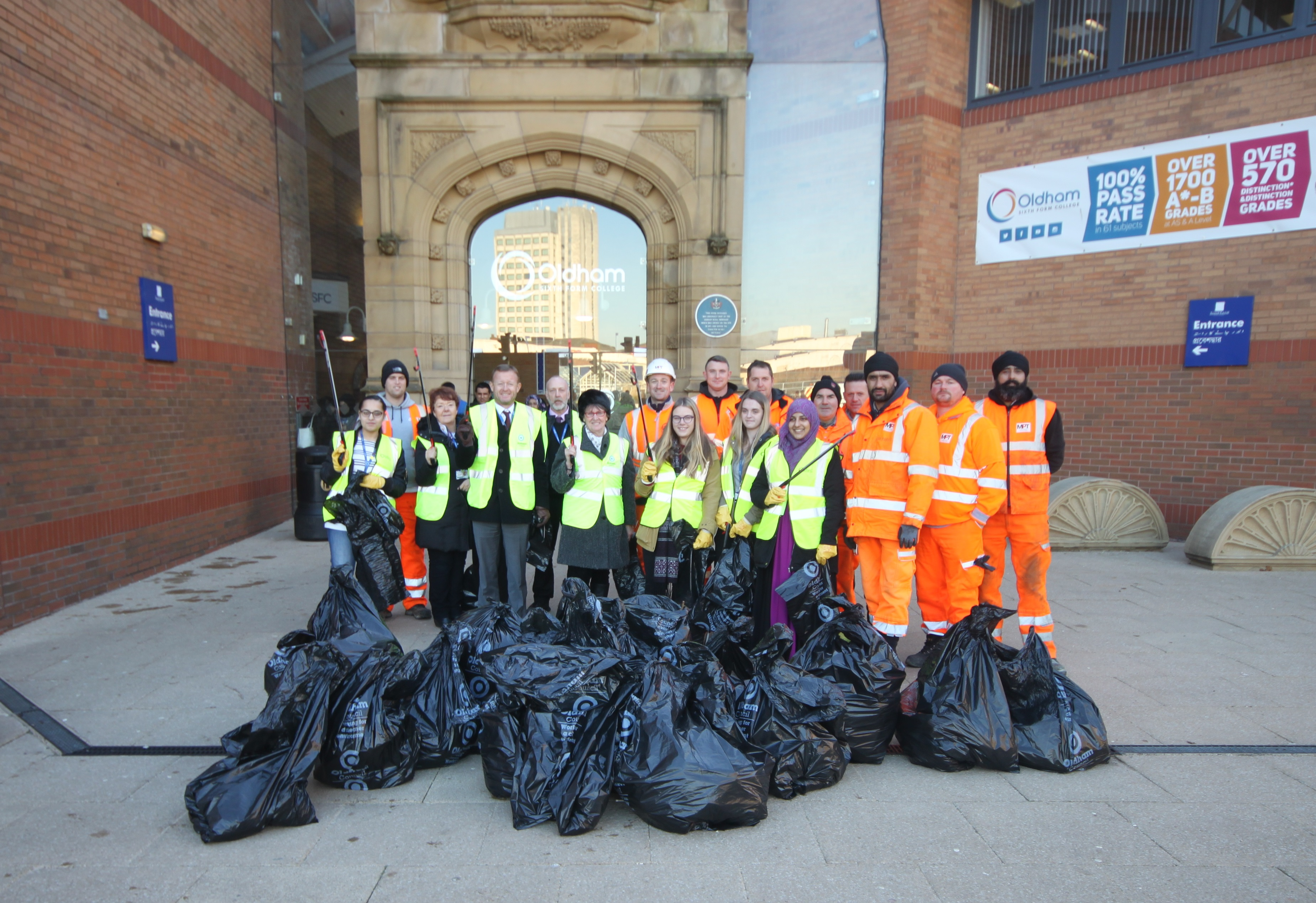Oldham Sixth Form Litter Pick