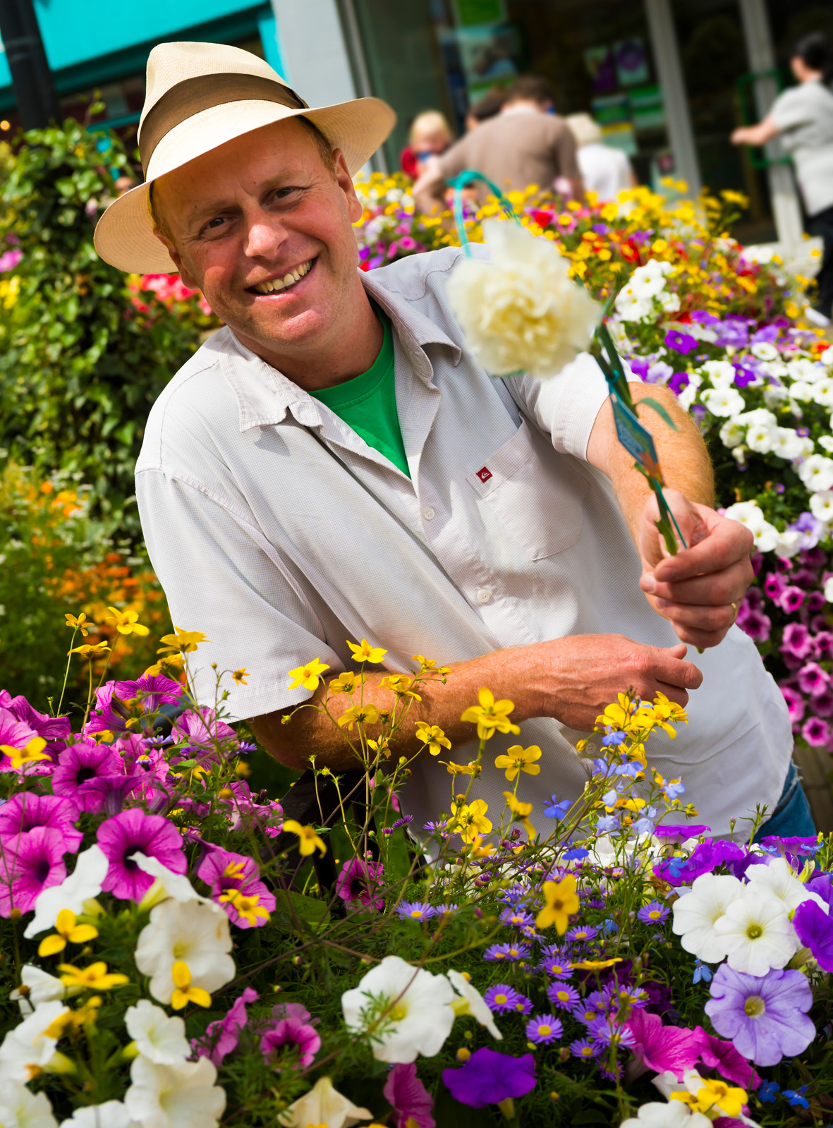 Joe Swift attends Oldham Flower Festival