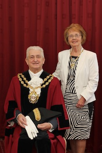 Mayor John Hudson and Mayoress Kathleen Hudson