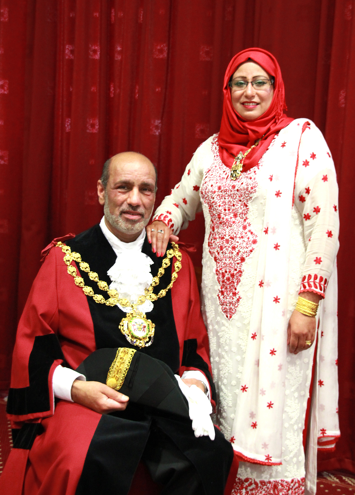 Councillor Fida Hussain, Mayor of Oldham and his wife Tanvir. Stoptober case study