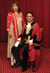 The Mayor, Councillor Ateeque Ur-Rehman and the Mayoress Yasmin Toor.