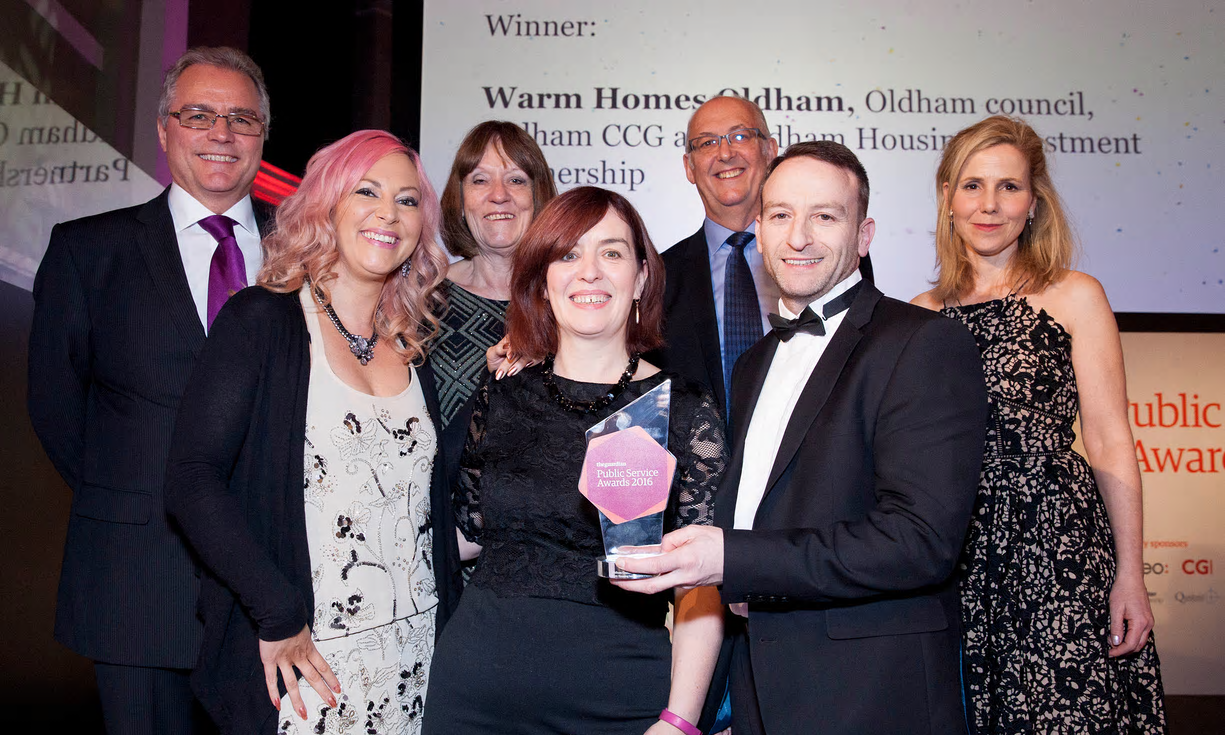 Pioneering scheme Warm Homes Oldham has scooped another national accolade.