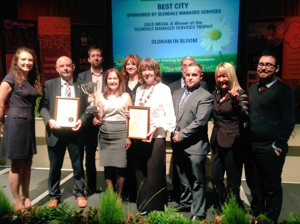 We have once again scooped the Best City prize at the Royal Horticultural Society's prestigious North West in Bloom competition.
