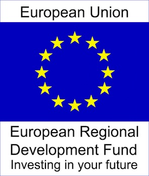 EU European Regional Development Fund logo.