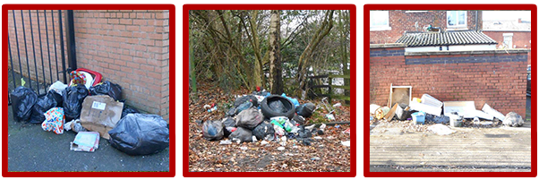 Examples of fly tipping