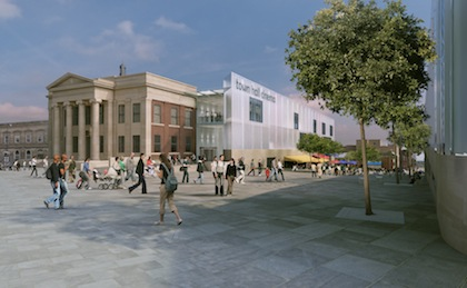 Artists impression of Town Hall redevelopment.