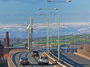 Motorway heading towards the Moors
